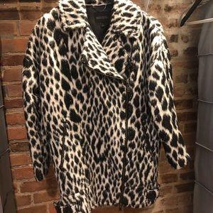 Banana Republic animal print women's coat